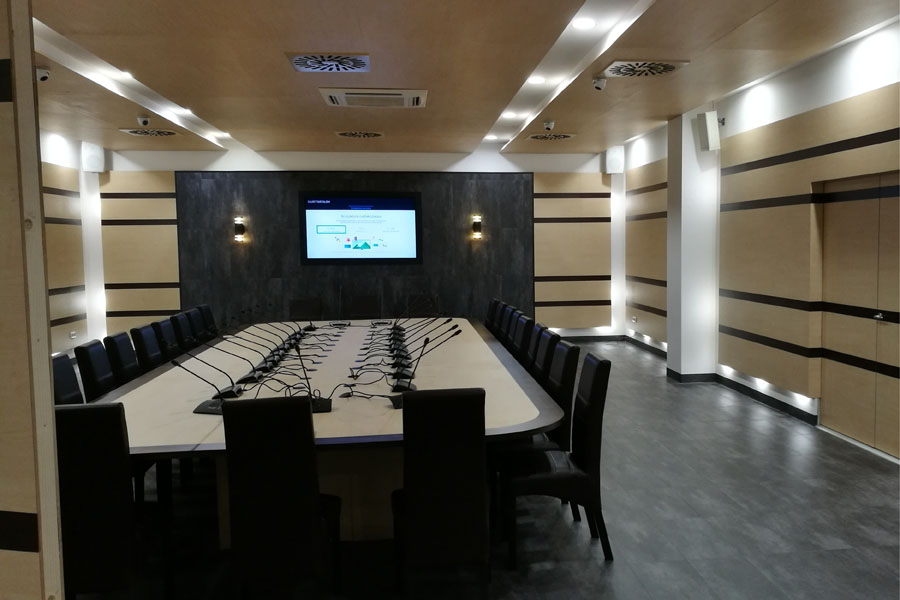 BMH Sajtószoba és Konferencia terem, 3D tervezés. kivitelezés, Quaestum Consult