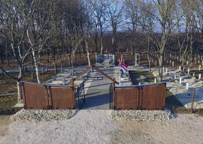 Csót, Hadifogolytábor temető rekonstrukciója