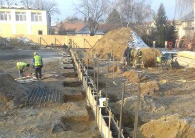 Szerkezetépítés – Mátészalka Református Iskola bővítése