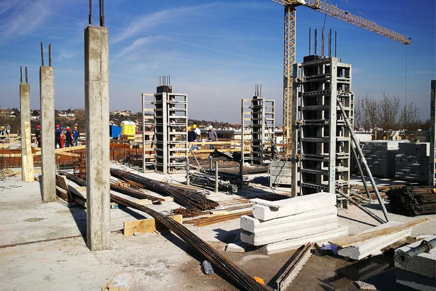 Quaestum Consult, társasház építés, falazási munkák