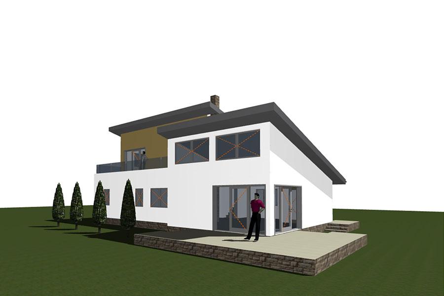 CSOK családi ház, Üröm – tervezés, kivitelezés