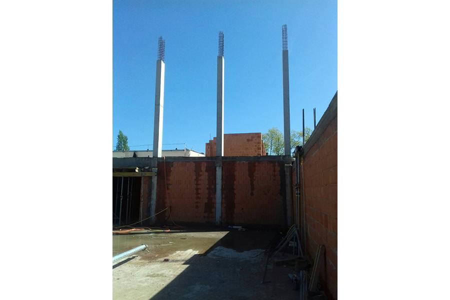 Mátészalka Református Iskola bővítése, szerkezetépítés, Quaestum Consult
