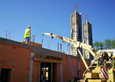 Szerkezetépítés – Mátészalka Református Iskola bővítése III. ütem