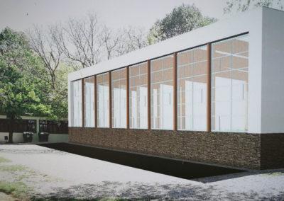 Szerkezetépítés – Tihany – Új sportcsarnok építése