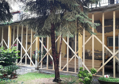 MMSZ műemléki terasz rekonstrukciója