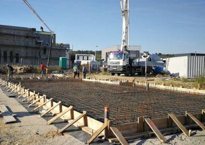 Szerkezetépítés –  Mogyoród, Lake Forest Villapark  – villaépület építése