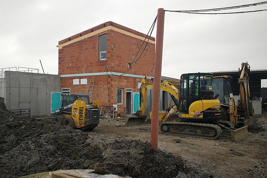 épület építés, kulcsrakész kivitelezés