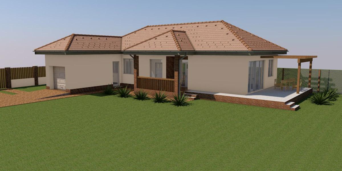 családi ház tervezés, egyszintes családi ház terv