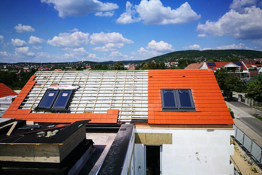 Magastető építés, tetőszerkezet készítés, hőszigetelés